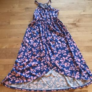 Pink blue maxi dress